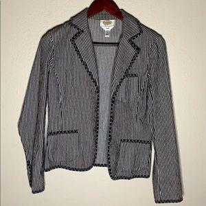 Talbots Striped Jacket Blazer
